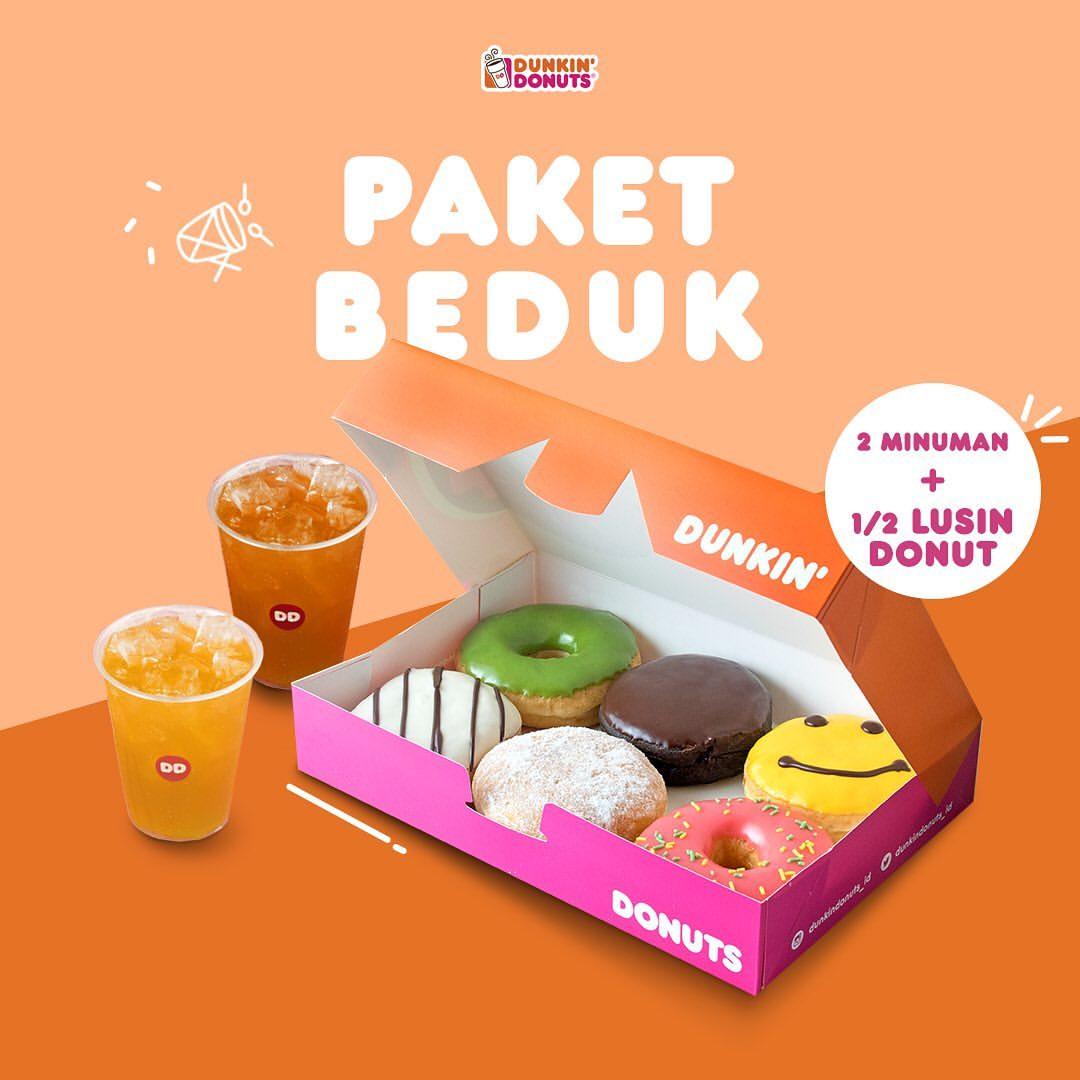 Diskon Dunkin Donuts Promo Paket Beduk cuma Rp.60.000