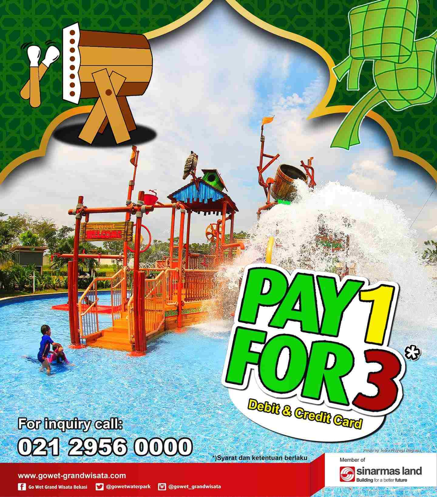 Go Wet Promo Pay 1 For 3 dengan Debit atau Credit Card