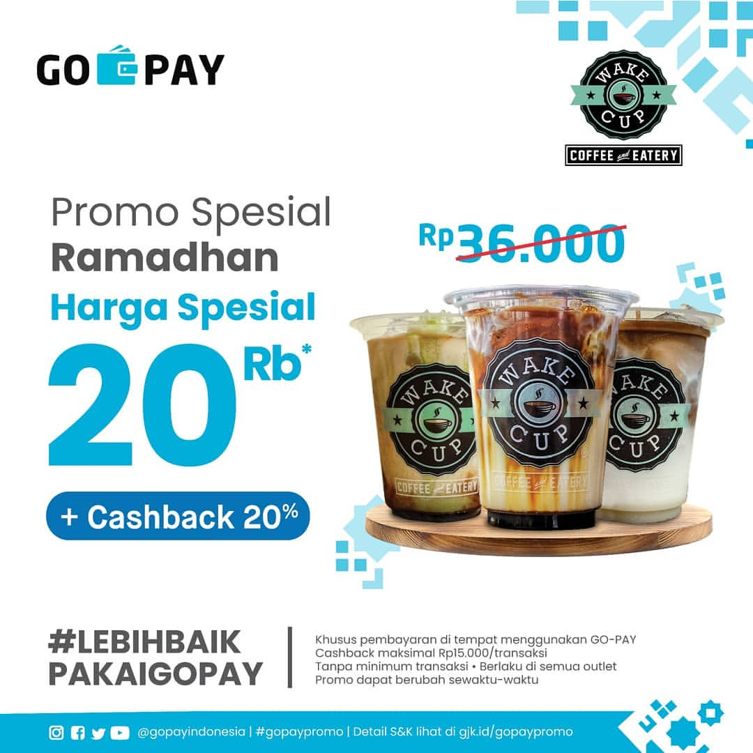 Wake Cup Coffee Promo Spesial Ramadhan Harga Spesial Rp.20.000 + Cashback 20%