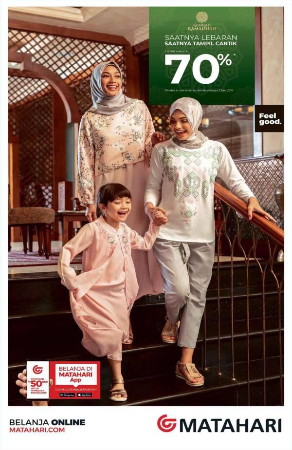Diskon MATAHARI Department Store Promo Saatnya Lebaran Koleksi Fashion Terkini Hemat hingga 70%