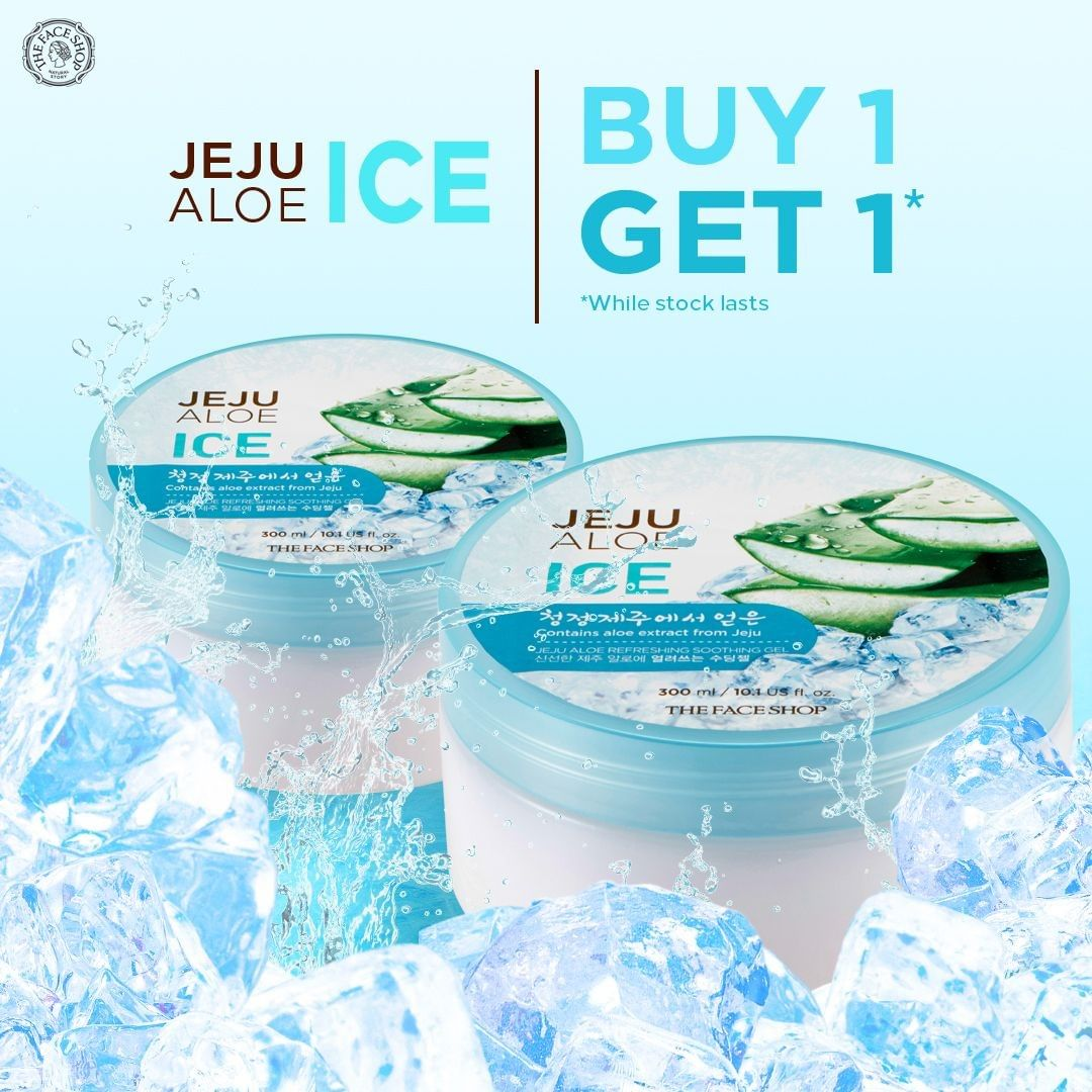 The Face Shop Promo Buy 1 Get 1 Jeju Aloe Ice