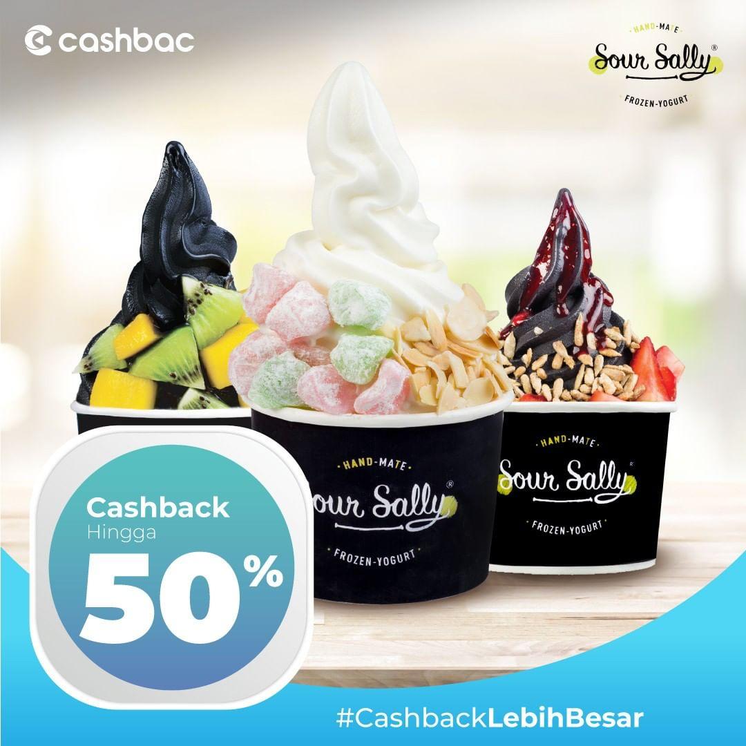 Sour Sally Promo Cashback Hingga 50% dengan Cashbac