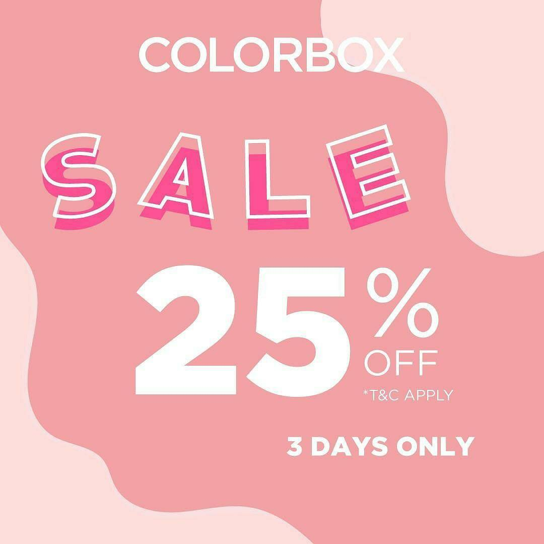 ColorBox Sale 25% off