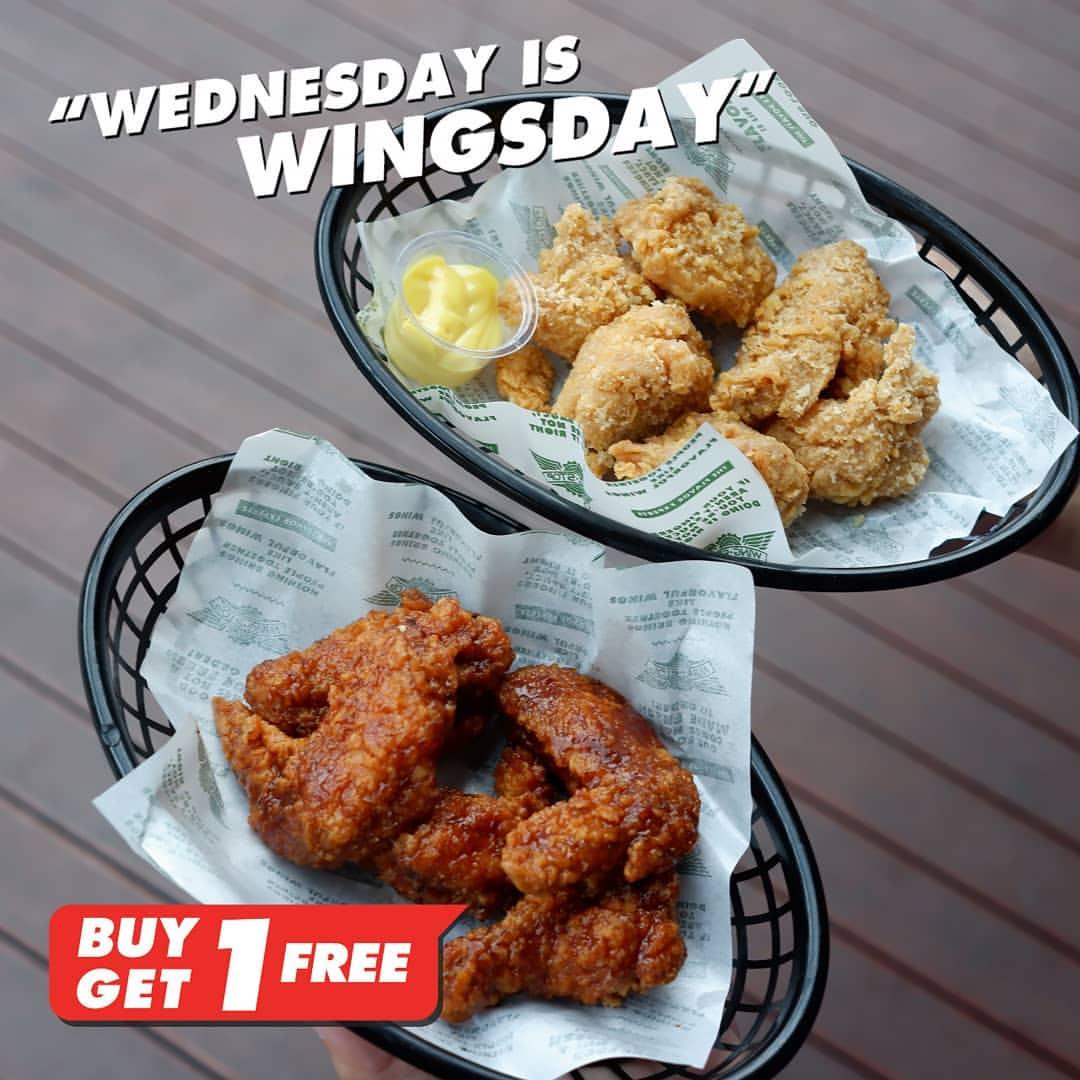Wingstop Wednesday is Wingsday BUY 1 Get 1 FREE! Free 5 Boneless Wings