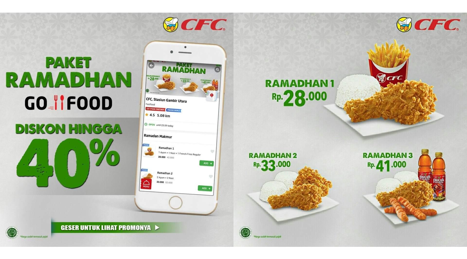 CFC Promo Paket Ramadhan GOFOOD Diskon Hingga 40%