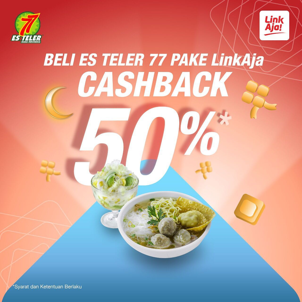 Diskon ES TELER Promo Cashback 50% dengan LinkAja