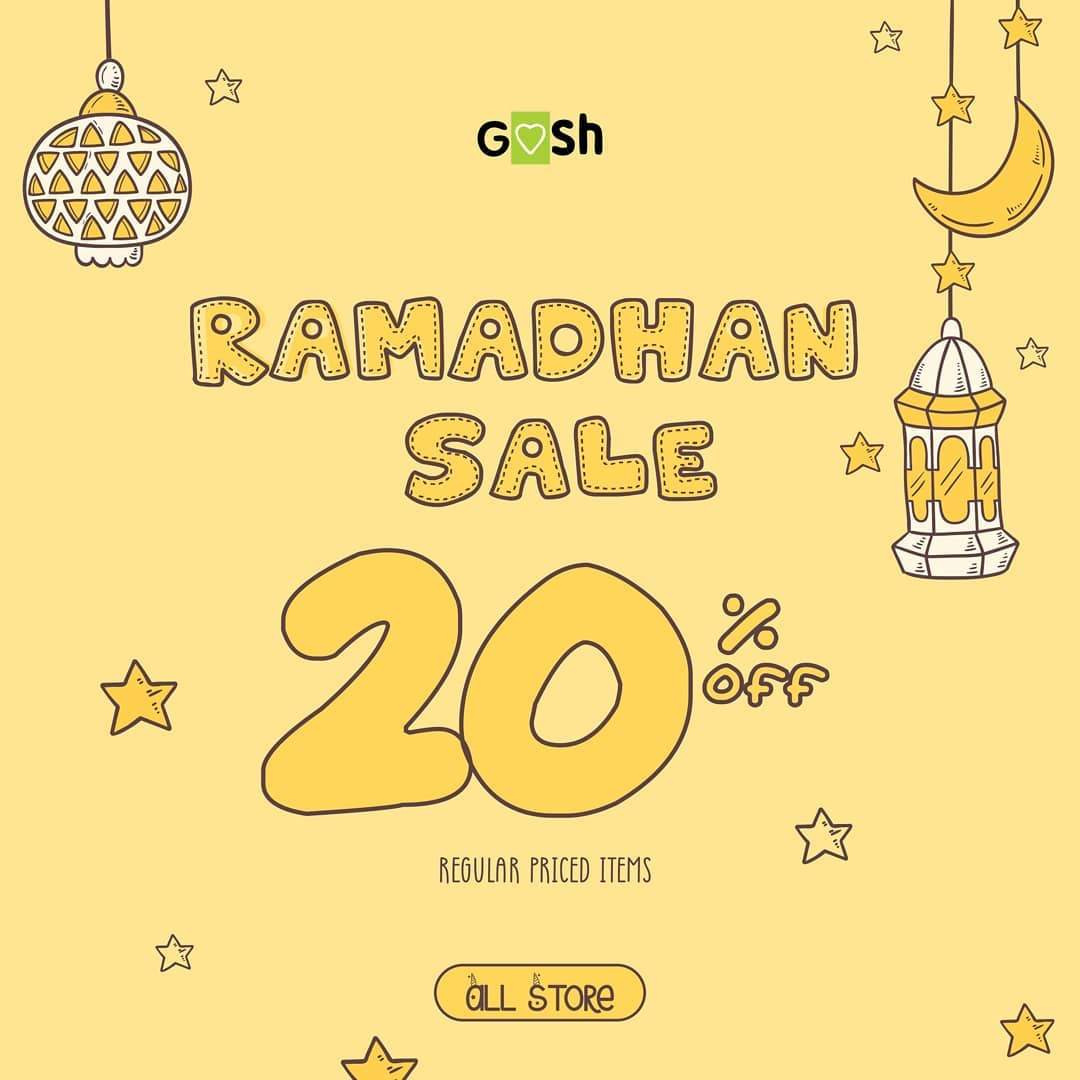 Gosh Shoes Ramadhan Sale Diskon 20% untuk item harga reguler
