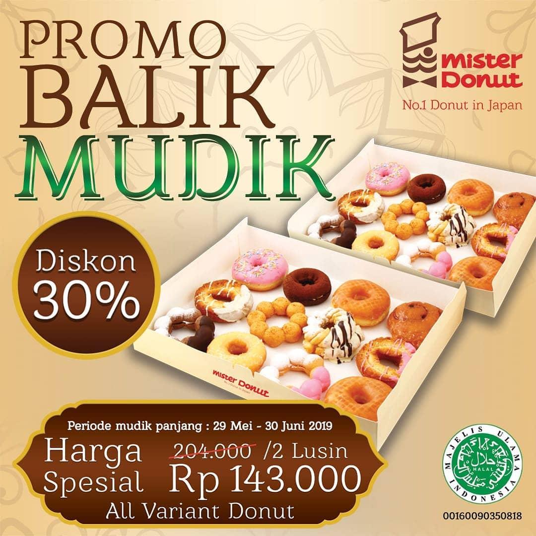 Mister Donut Promo Balik Mudik Harga Spesial 2 lusin donut hanya Rp.143.000