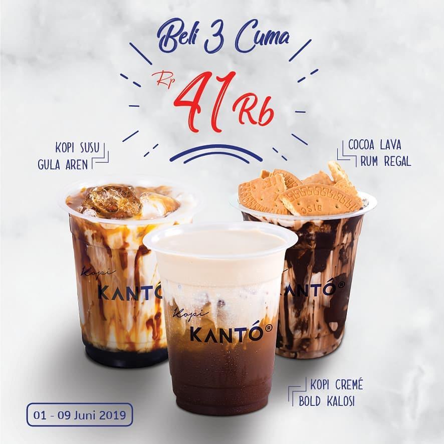 KOPI KANTO Promo Harga Spesial Paket 3 produk best seller hanya Rp.41.000