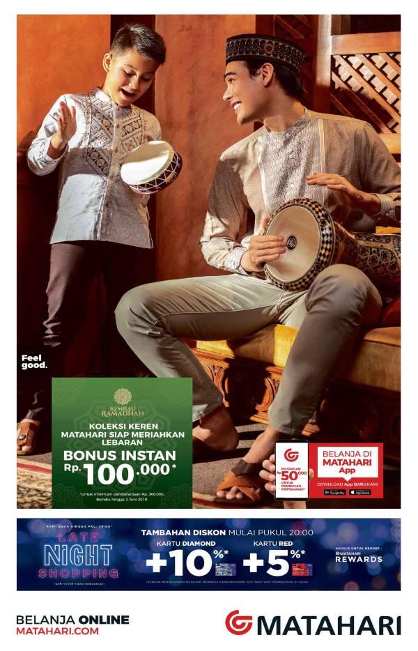 Diskon MATAHARI Promo Bonus Instan hingga Rp.100.000