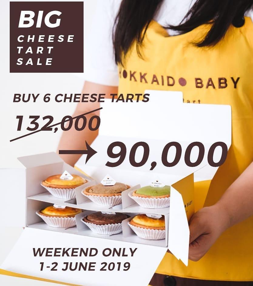 HOKKAIDO BABY Big Cheese Tart Sale Harga Spesial 6Pcs Cheese Tart cuma Rp. 90.000