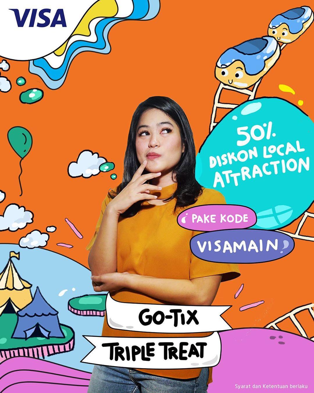 GOTIX Promo DISKON 50% untuk tiket objek wisata
