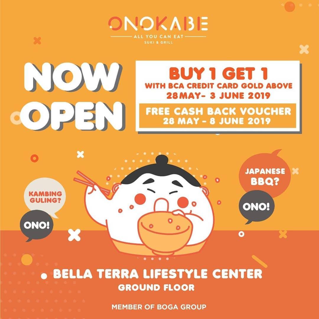 Onokabe Promo Spesial Grand Opening, Buy 1 Get 1 Free