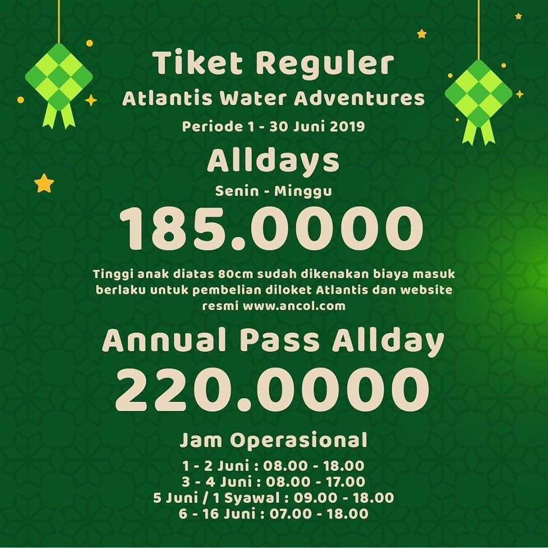 Diskon Atlantis Water Adventure Promo Spesial Lebaran, HTM Mulai Rp. 185.000