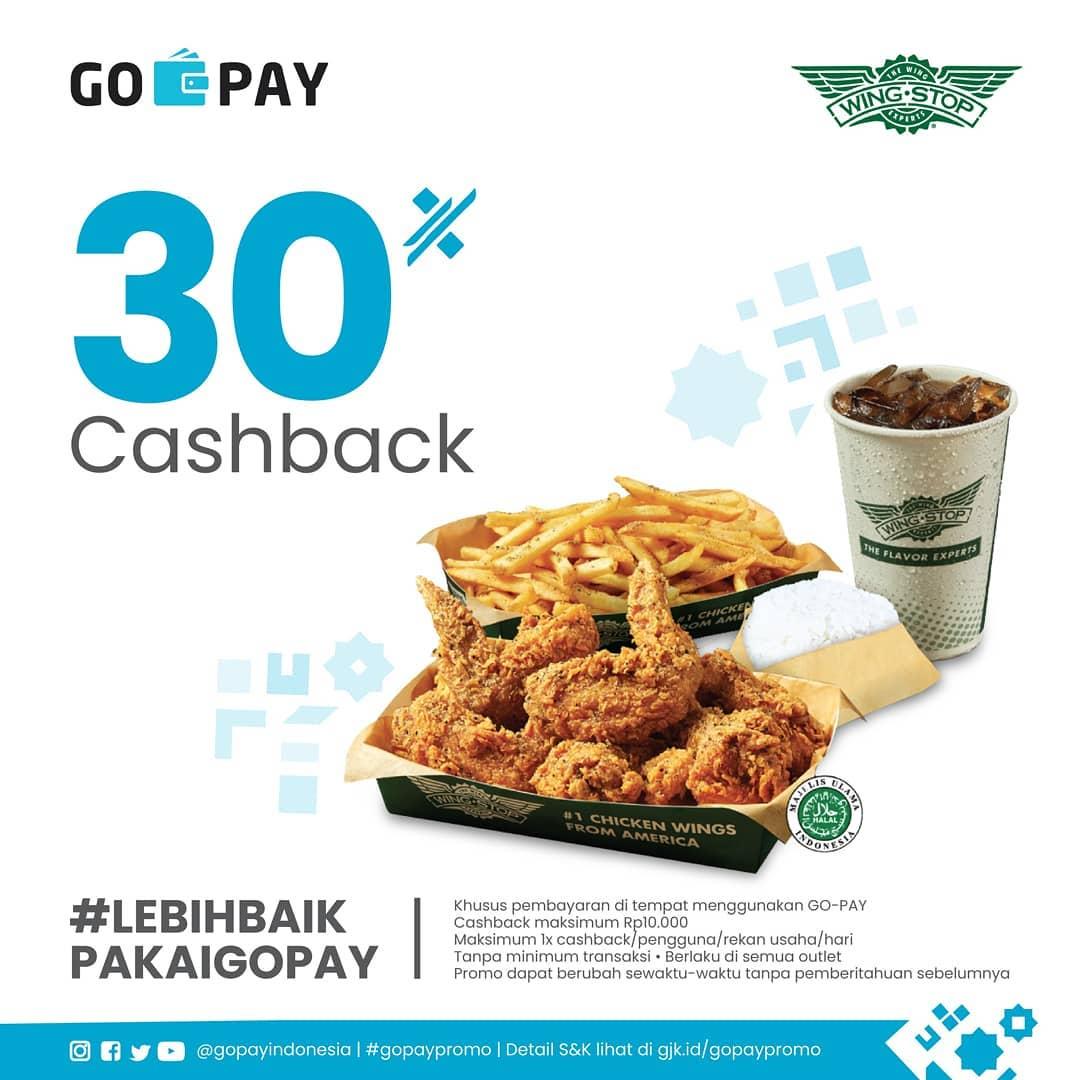 Diskon WINGSTOP Cashback 30% untuk transaksi dengan GOPAY