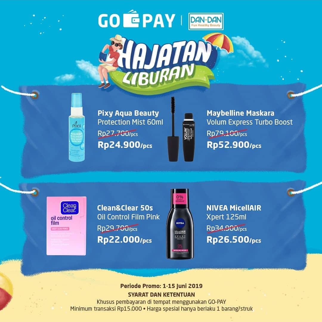 Dan+Dan Store Promo GOPAY HAJATAN Liburan lebih hemat dengan GO-PAY