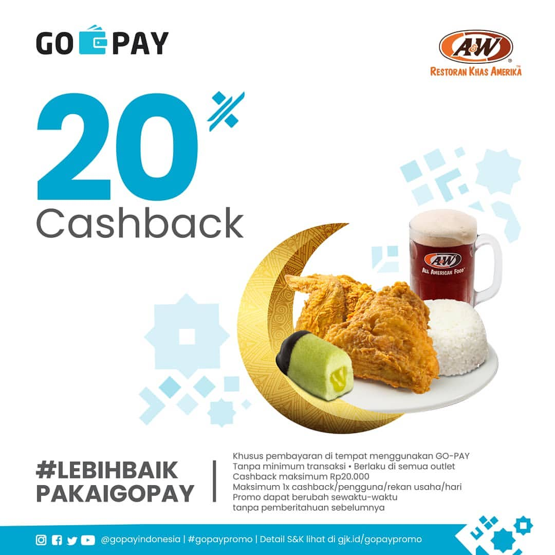 A&W Promo GOPAY Cashback 20%