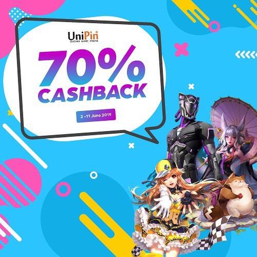 Diskon Isi ulang UniPin Wallet-mu dan dapatkan Cashback hingga 70%
