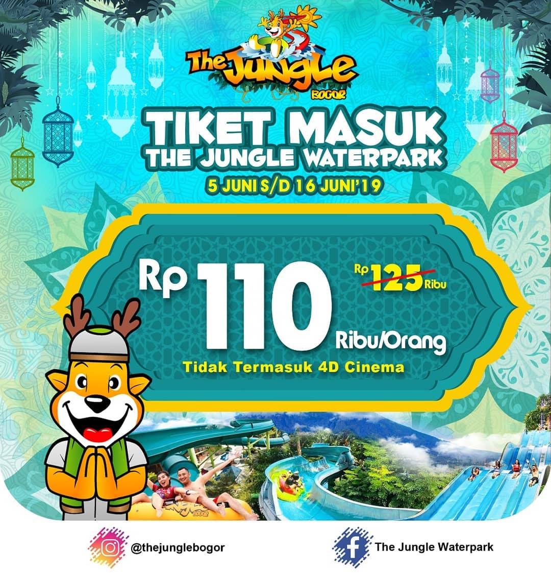 Diskon The Jungle Bogor Promo Libur Lebaran, HTM Rp. 110.000