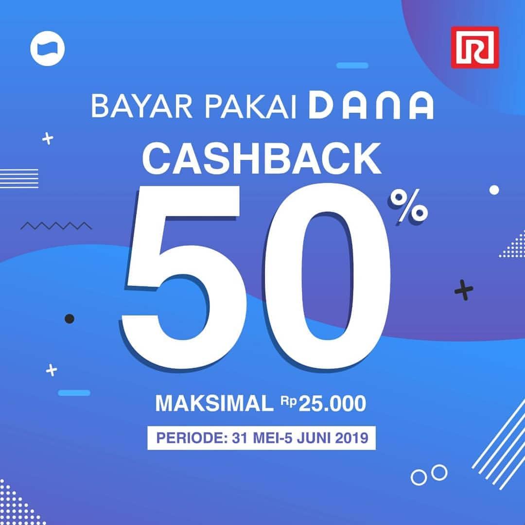 RAMAYANA Promo Bayar Pakai DANA dapat Cashback 50%