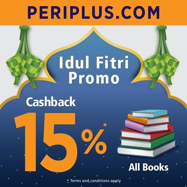 PERIPLUS.COM Idul Fitri Promo Cashback 15% all Books