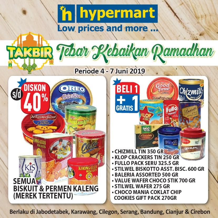 """HYPERMART Promo Takbir """"Tebar Kebaikan Ramadhan"""" periode 04-07 Juni 2019"""