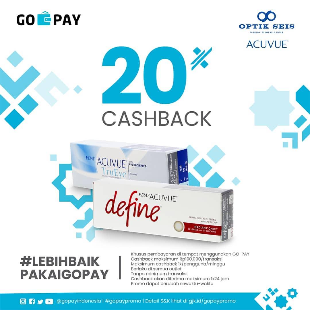 Optik Seis x Acuvue Promo Cashback 20% dengan GOPAY