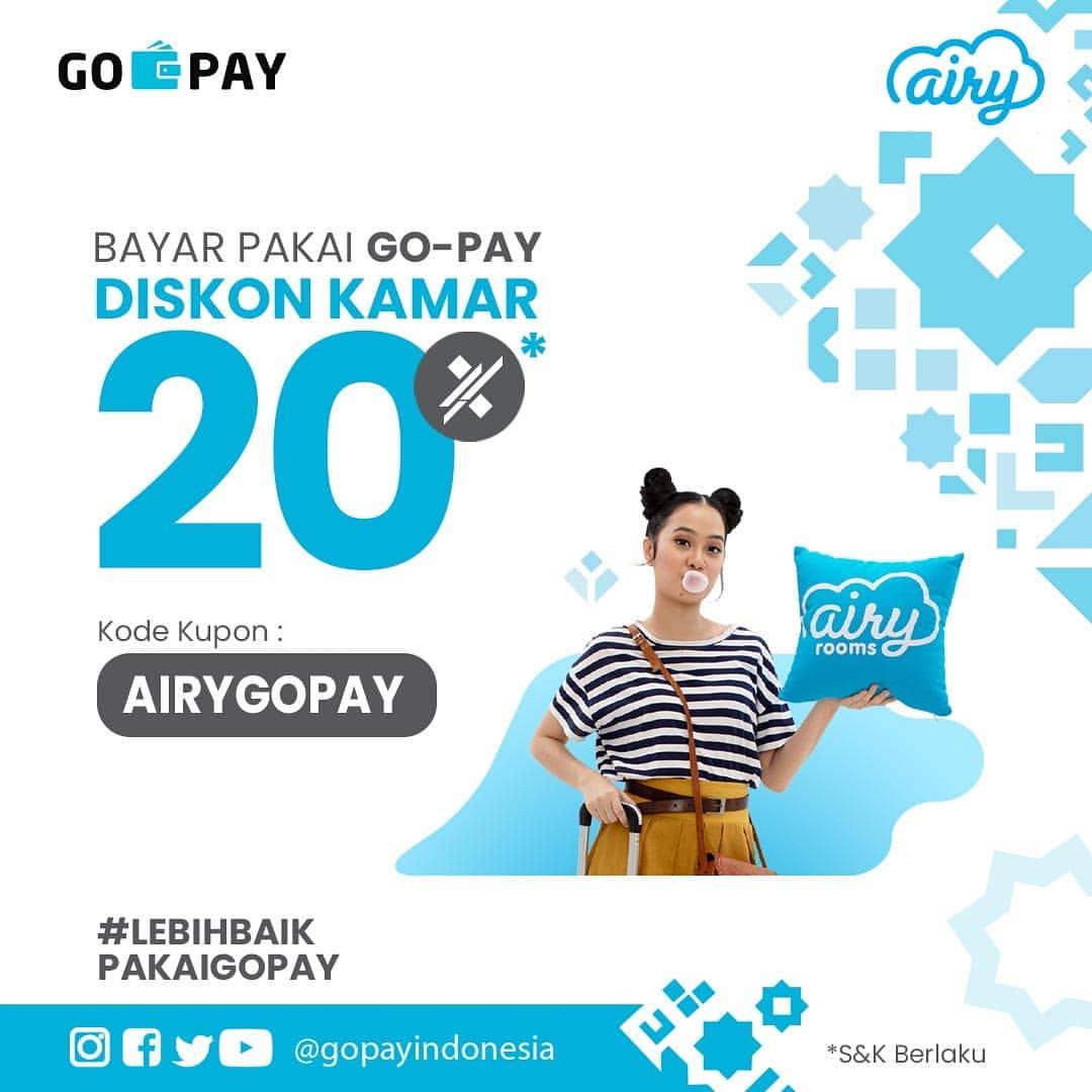 Airy Promo Diskon 20% dengan GoPay
