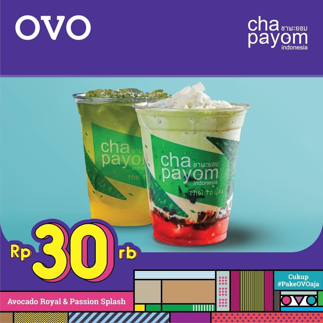 Diskon Chapayom Promo 2 Cup (Avocadp Royal + Passion Splash) Hanya 30rb dengan OVO