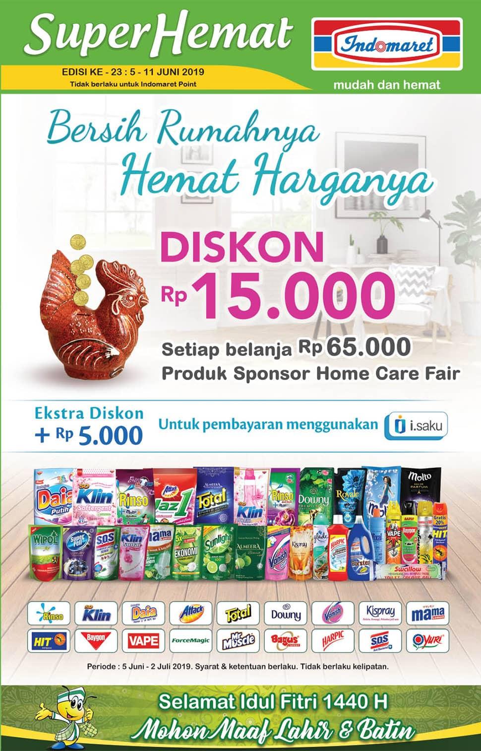 Diskon Promo INDOMARET Katalog Super Hemat periode 05-11 Juni 2019