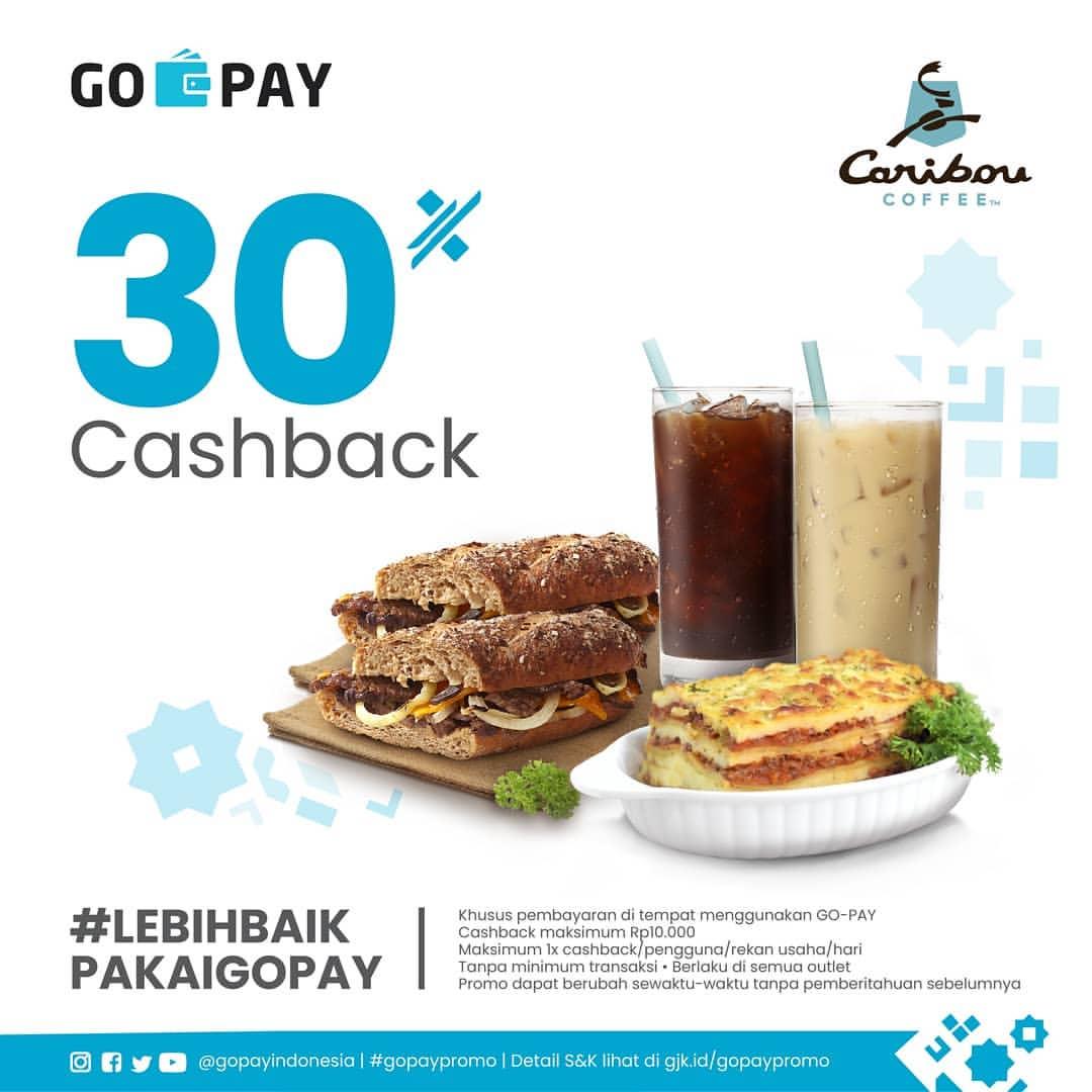 Diskon Caribou Coffee Promo Cashback 30% dengan GoPay