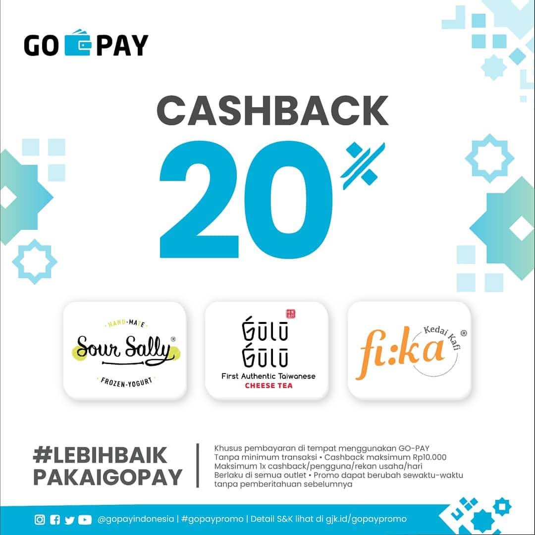 Sour Sally, Gulu-Gulu dan Fika Promo Cashback 20% dengan GoPay