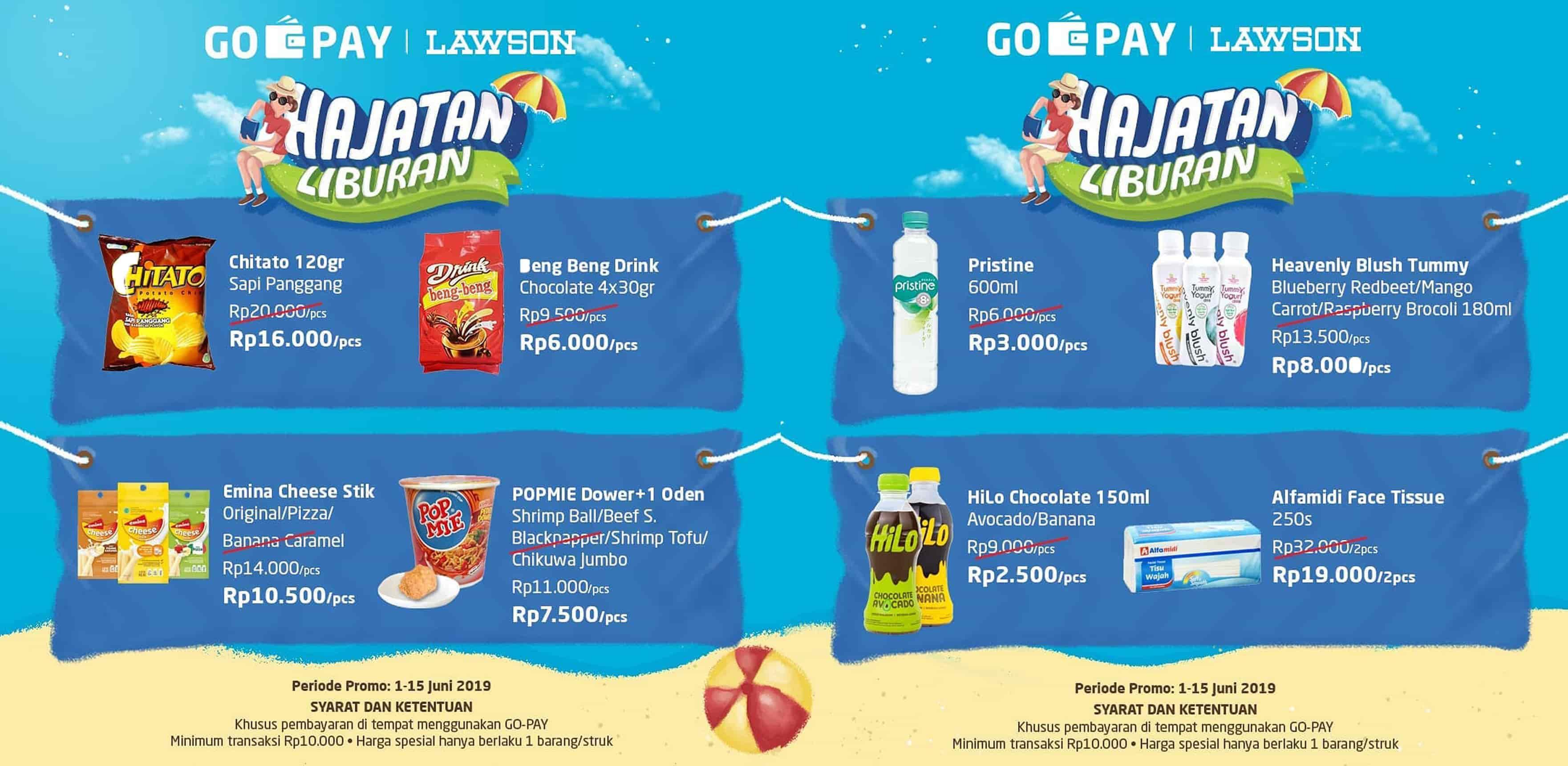 LAWSON Promo HAJATAN LIBURAN Harga Spesial untuk transaksi dengan GOPAY