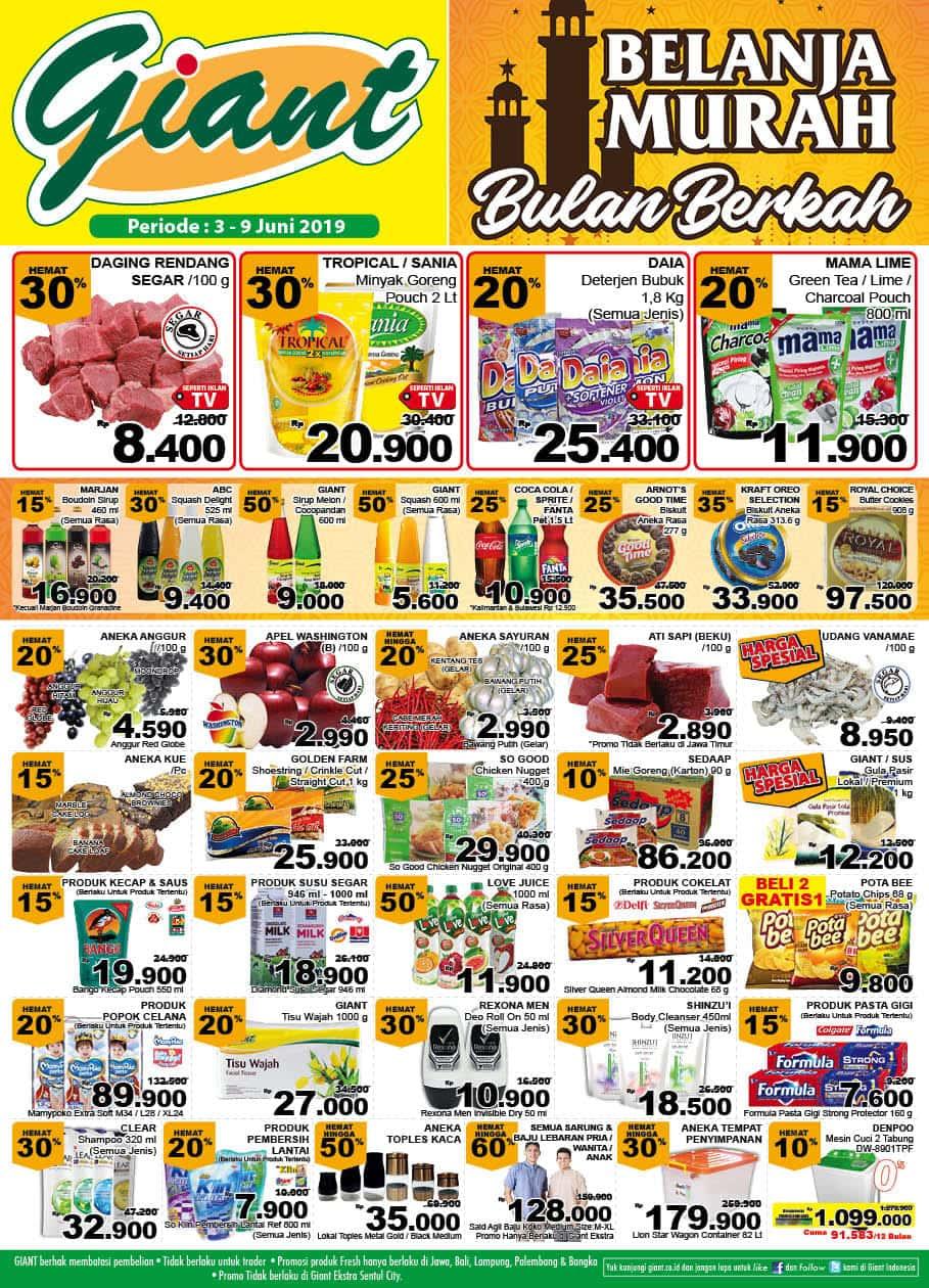 Katalog GIANT Ekstra dan Promo GIANT Ekspres periode 03-09 Juni 2019