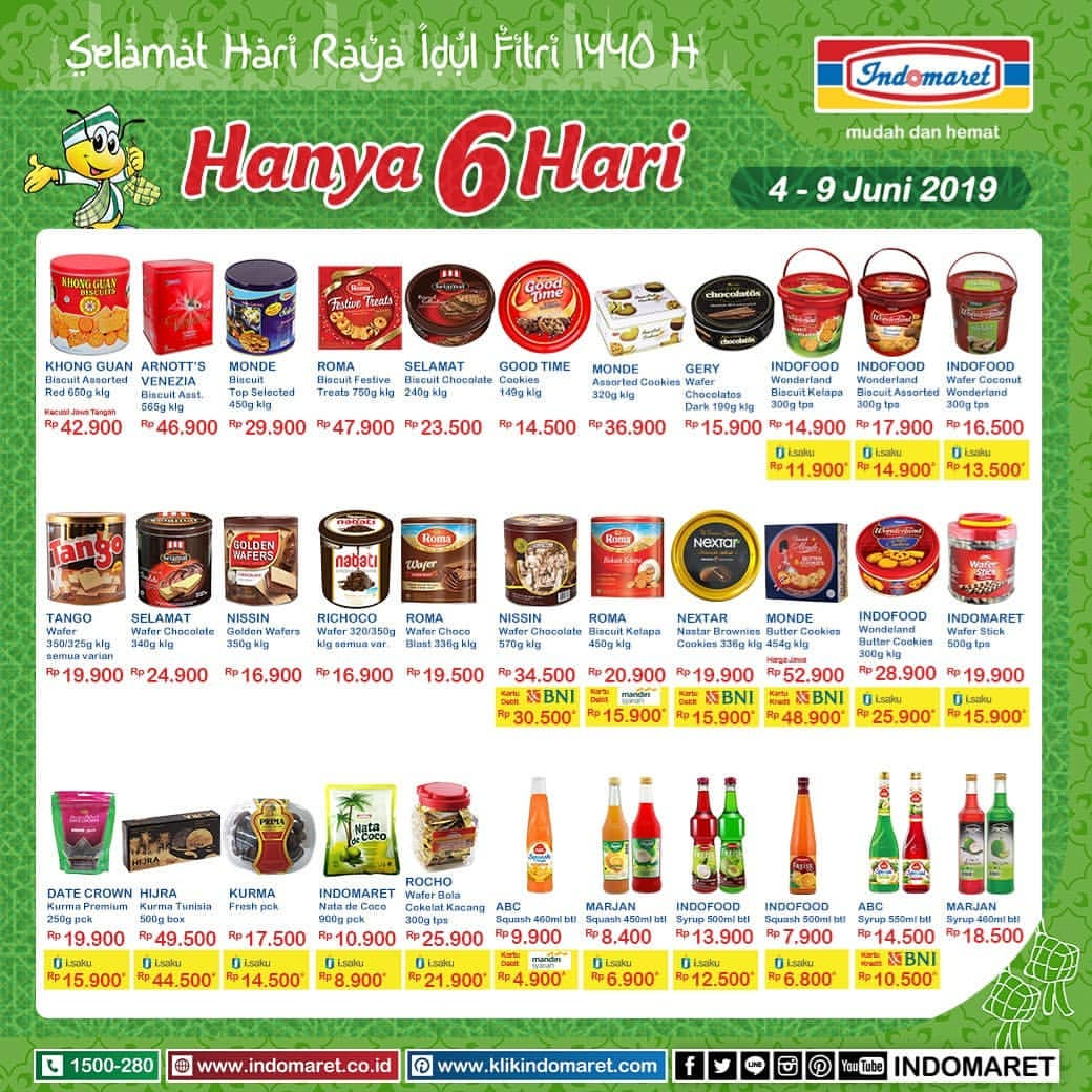 Katalog INDOMARET Weekend Promo JSM Long Weekend Special periode 04-09 Juni 2019