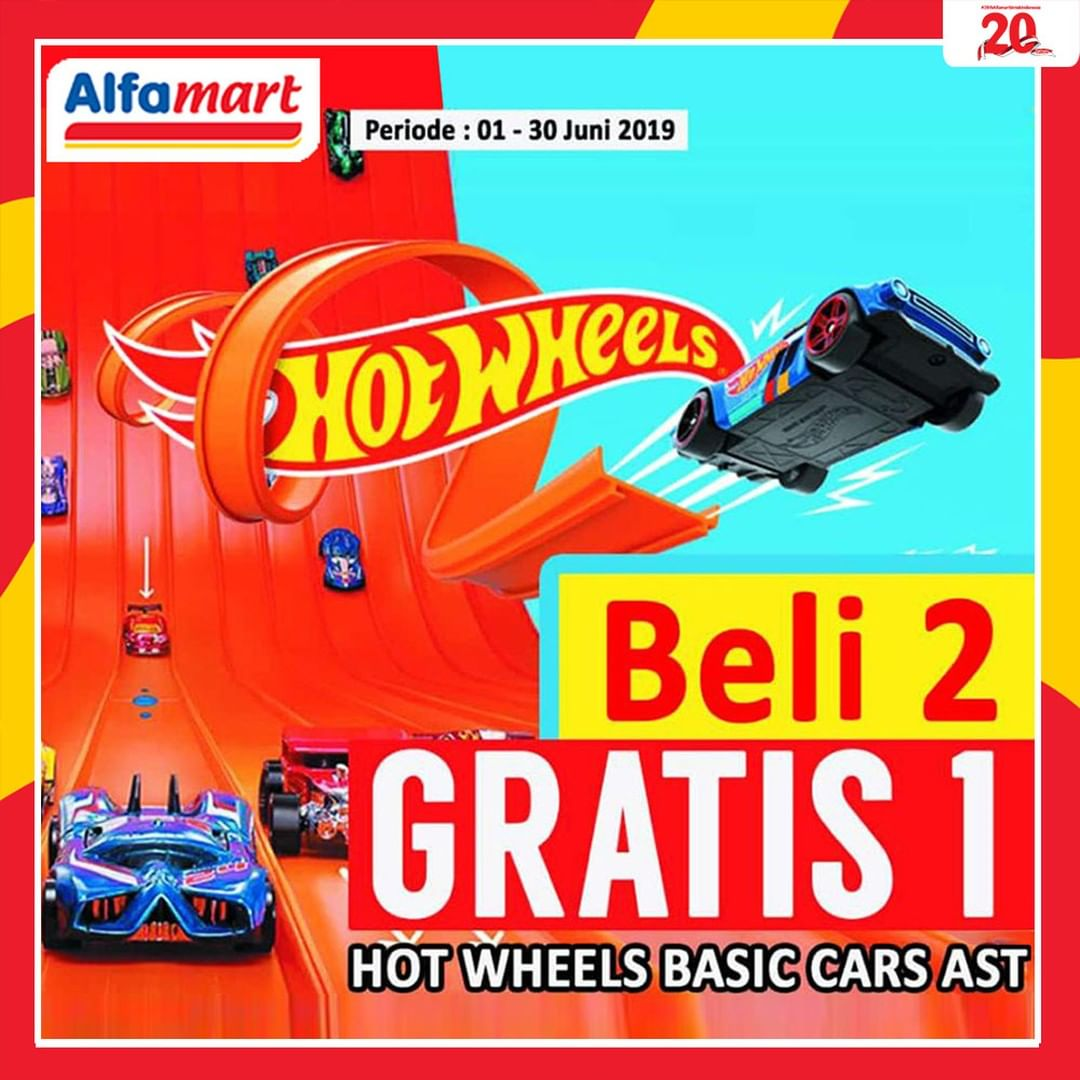 Alfamart Promo Hot Wheels BELI 2 GRATIS 1