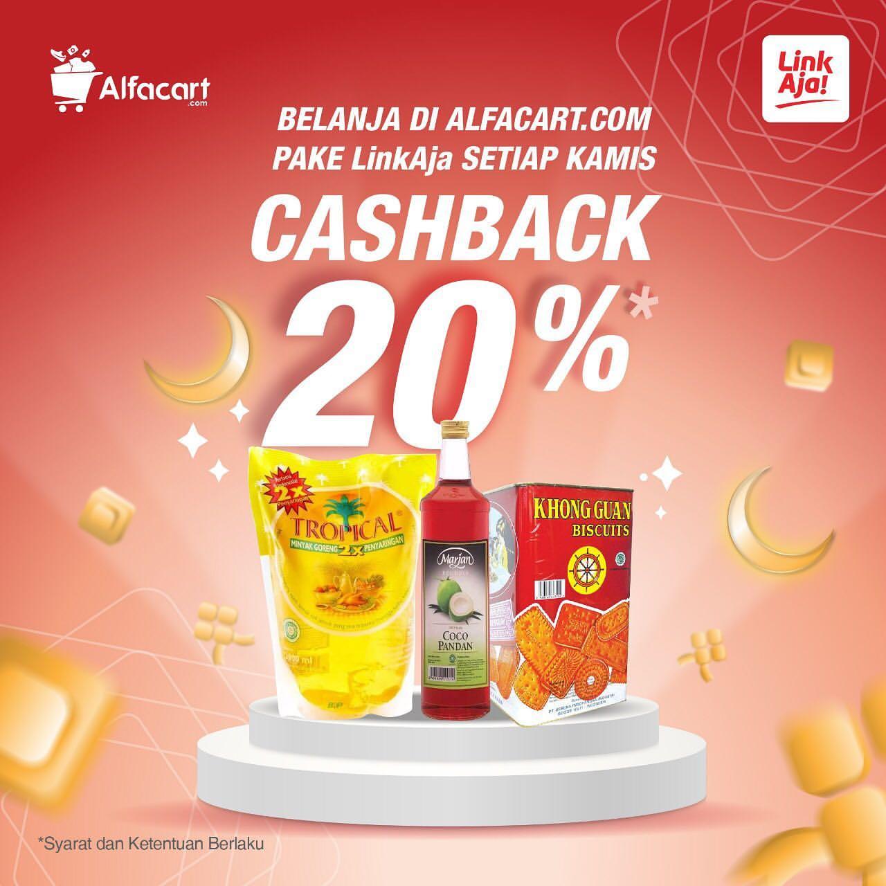 Alfacart Promo Cashback 20% dengan LinkAja