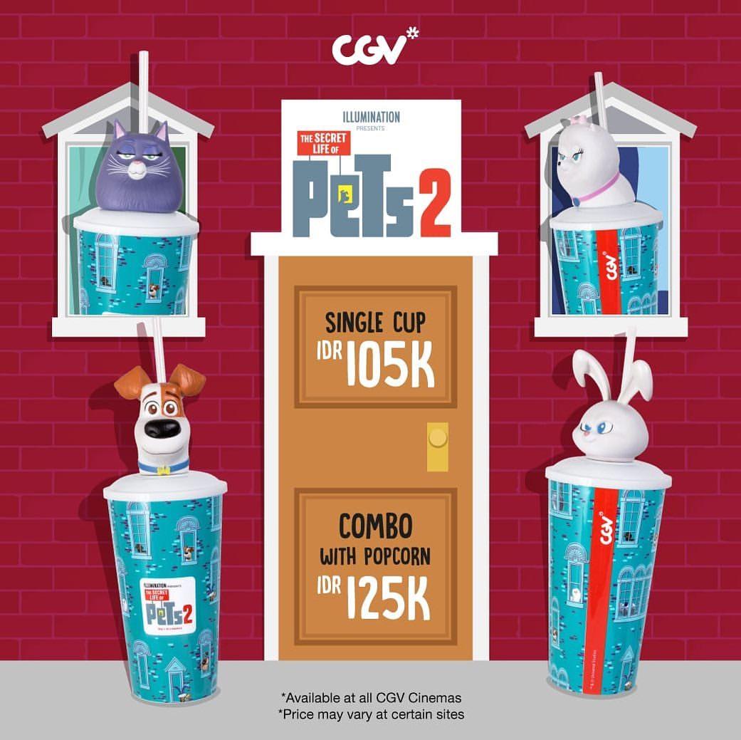 Diskon CGV Promo Exclusive Merchandise The Secret Life Of Pets 2 Harga mulai Rp.105.000