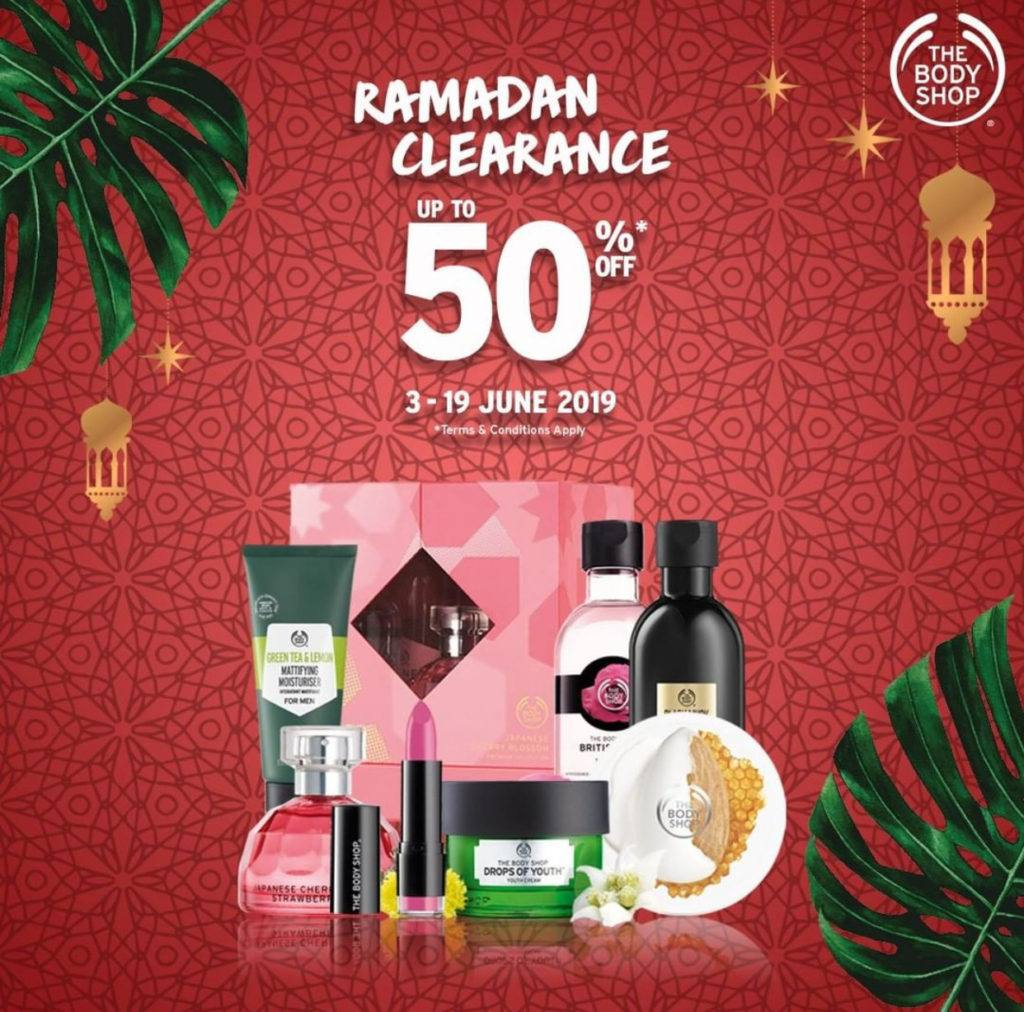 Diskon THE BODY SHOP Promo RAMADHAN CLEARANCE Diskon hingga 50%