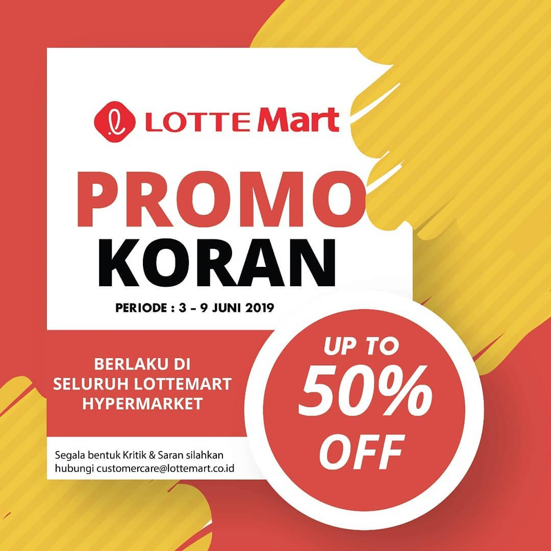 Diskon Katalog LOTTEMART RETAIL Weekly Special Offers periode 03-09 Juni 2019