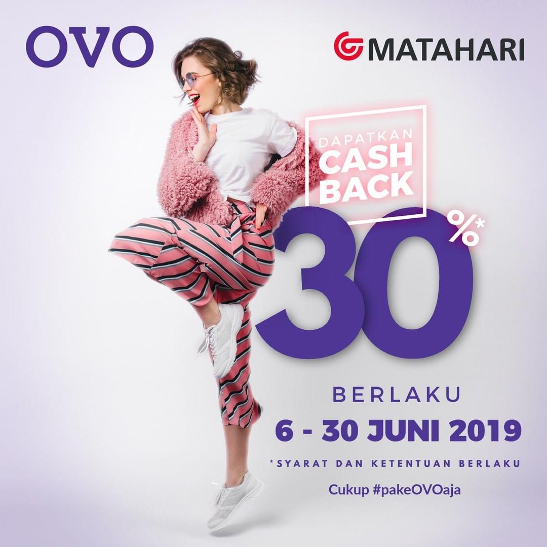 Matahari Department Store Promo Cashback 30% dengan OVO