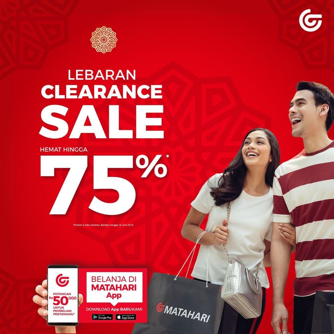 Diskon MATAHARI DEPARTMENT STORE Promo Lebaran Clearance Sale Hemat hingga 75%