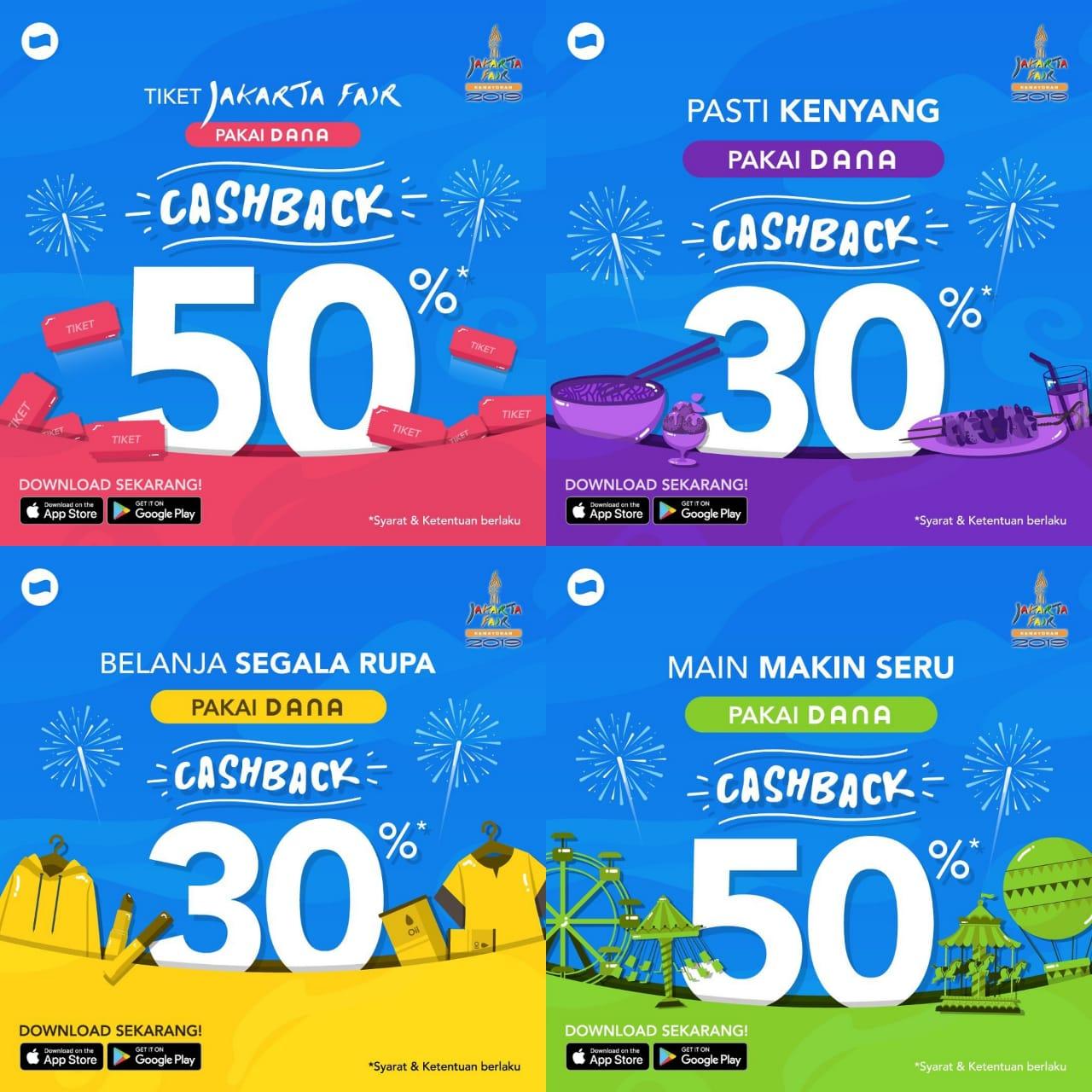 Jakarta Fair Promo Spesial Dana, Cashback Hingga 50%