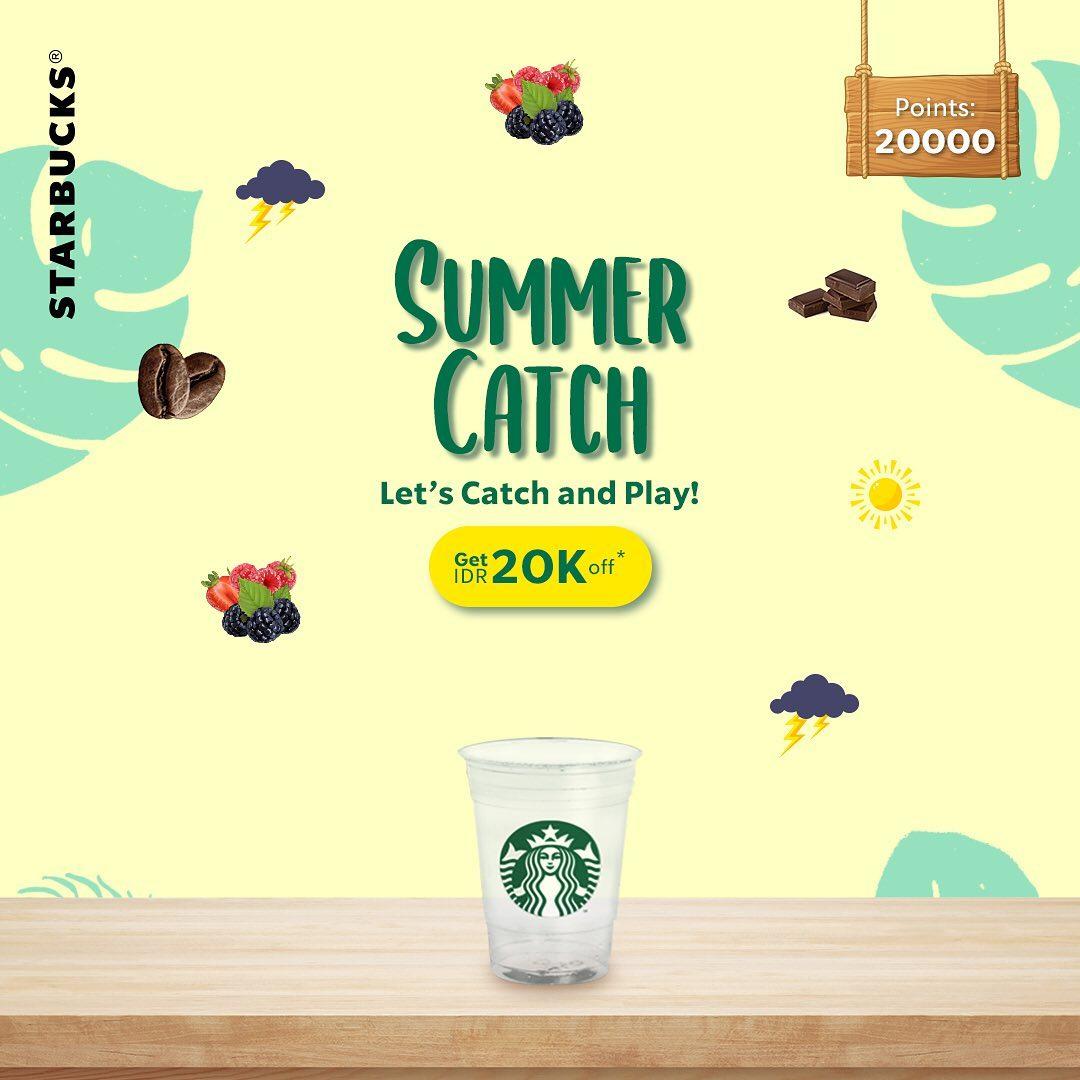 STARBUCKS Let's Catch & Sip! Menangkan Game Dapat Potongan Rp.20ribu untuk minuman spesial Summer
