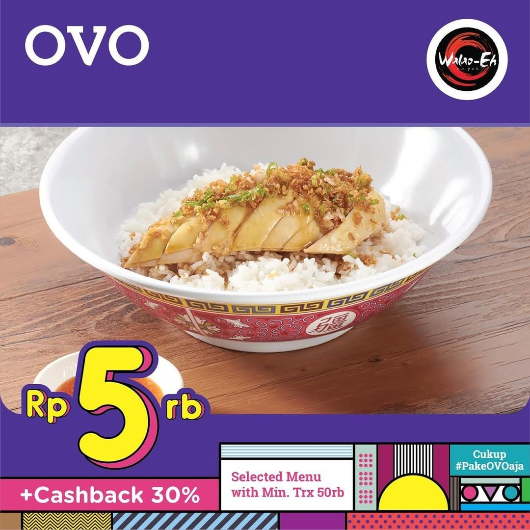 Diskon Walao-Eh Promo Sweet & Sour Chicken Rice Bowl atau Hainan Chicken with Garlic Rice Bowl hanya 5.000