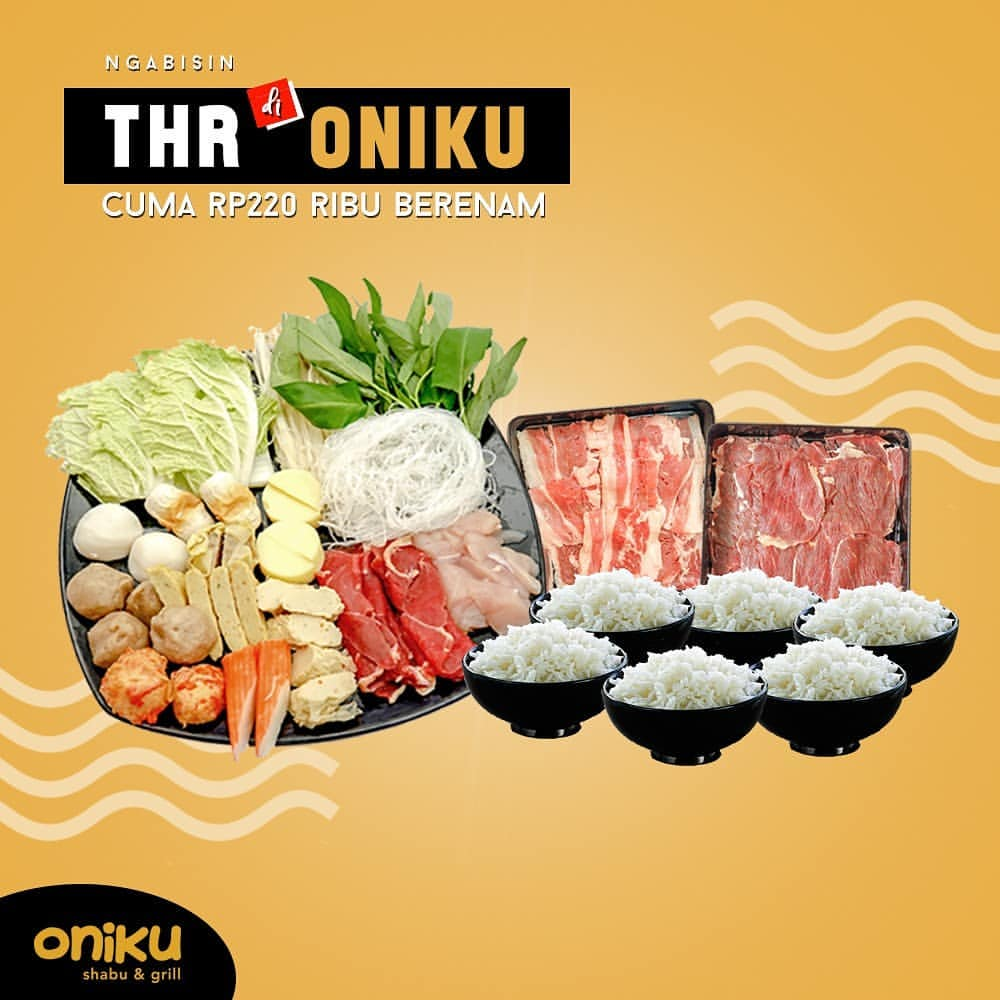 Oniku Shabu & Grill Promo Paket BerEnam hanya Rp.220.000