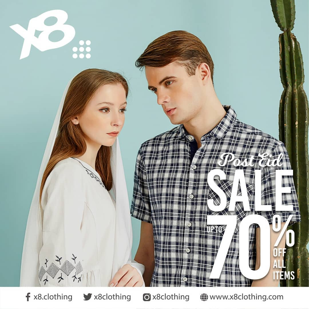 X8 CLOTHING Post Ramadhan Sale Discount up to 70% off