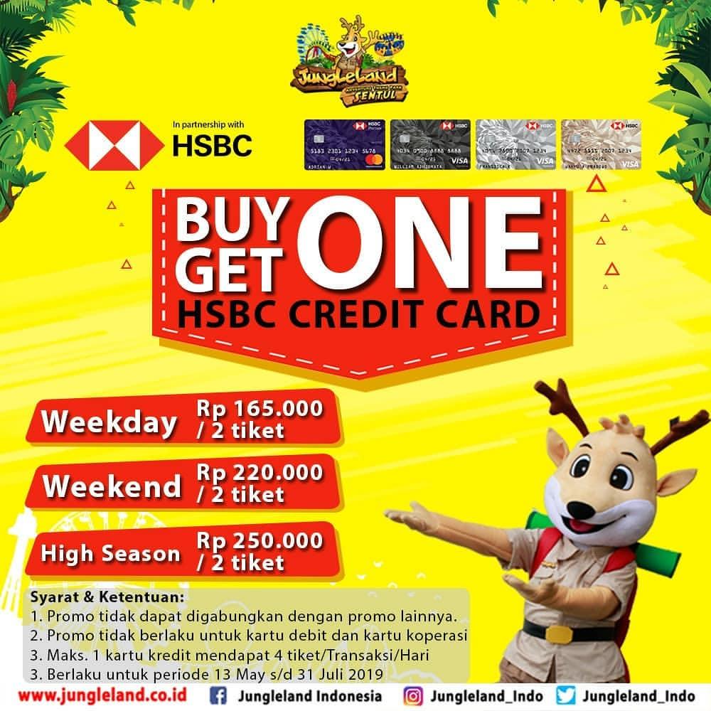 Diskon JUNGLELAND Promo BELI 1 GRATIS 1 dengan Kartu  Kredit HSBC
