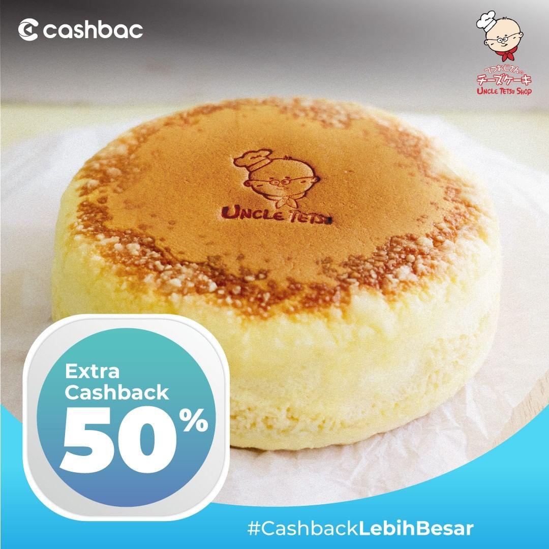 UNCLE TETSU Promo Cashback 50%  dengan CASHBAC APP