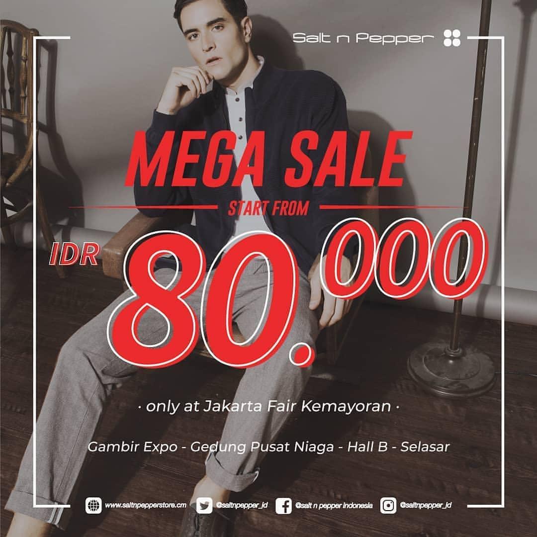 SALT N PEPPER Promo JAKARTA FAIR KEMAYORAN Semua Serba Rp. 80.000